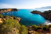 Ibiza es porroig auch port roig blick auf balearen — Stockfoto