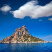 Es vedra île d'ibiza à proximité vue depuis le bateau — Photo