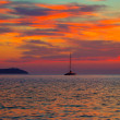 Ibiza san Antonio Abad de Portmany sunset — Stock Photo