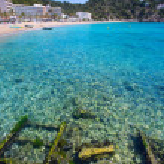 Постер, плакат: Ibiza caleta de Sant Vicent cala San vicente san Juan