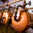 Stock Photo: Vintage winery tanks and pipes