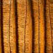 Mediterranean cane roof in traditional wooden roofing — Stock Photo