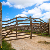 Menorca traditional wooden fence in Balearic islands — Stock Photo