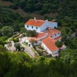 Menorca traditional Mediterranean houses aerial view — Stock Photo #35142417