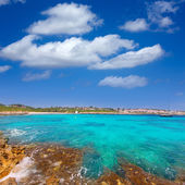 Binibeca beach in Menorca at Binibequer Vell village — Stock Photo