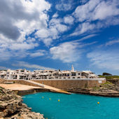Binibequer Vell in Menorca Binibeca white village Sant Lluis — Stock Photo