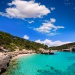 Cala Mitjana y Mitjaneta in Menorca Ciutadella at Balearic — Stock Photo