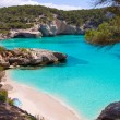 Cala Mitjaneta in Menorca Ciutadella at Balearics — Stock Photo