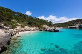 Cala Mitjana y Mitjaneta in Menorca Ciutadella at Balearic — Foto Stock