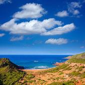 Cala Pilar beach in Menorca at Balearic Islands — Foto Stock