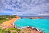 Cala pregonda em menorca em ilhas baleares — Fotografia Stock