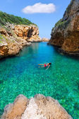 SAlgar beach Cala Rafalet in Menorca at Balearic Islands — Stock Photo