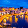 Calasfonts Cales Fonts Port sunset in Mahon at Balearics — Stock Photo #35161629