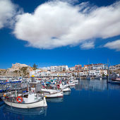 Ciutadella Menorca marina Port view Town hall — Stock Photo