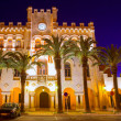 Ciutadella Menorca city town Hall sunset in Ciudadela — Stock Photo #35174755