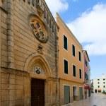 Ciutadella Menorca carrer Mao church downtown — Stock Photo