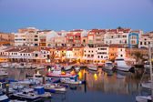 Ciutadella Menorca marina Port sunset with boats — Stock Photo