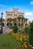 Ciutadella Menorca city Town Hall and gardens — Stock Photo