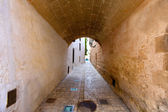 Ciutadella Menorca barrel vault passage downtown — Stock Photo