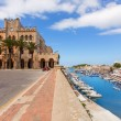 Ciutadella Menorca city Town Hall and Port in Ciudadela — Stock Photo