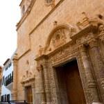 Menorca El Roser church in Ciutadella downtown at Balearics — Stock Photo #35183129