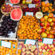 Mediterranesummer fruits in Balearic Islands market — Stock Photo #35186805