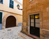 Menorca Ciutadella historical downtown at Balearics — Stock Photo