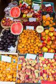 Mediterranean summer fruits in Balearic Islands market — Stock Photo