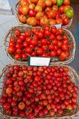 Mediterranean tomatoes in Balearic Islands market — Foto de Stock