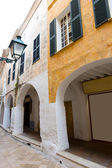 Ciutadella Menorca Ses Voltes arches Ciudadela Balearics — Stock Photo