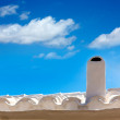 Menorca Es Grau white house chimney detail in Balearics — Stock Photo