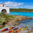 Menorca Es Grau kayak adventure in Balearic Islands — Stock Photo
