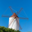 Menorca Es Mercadal windmill on blue sky at Balearics — Stock Photo