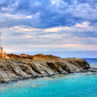 Cap de Favaritx sunset lighthouse cape in Mahon — Stock Photo