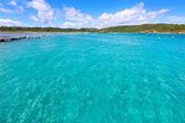 Menorca Es Grau clean port with llaut boats in Balearics — Stock Photo