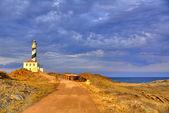 Cap de Favaritx sunset lighthouse cape in Mahon — Stock Photo