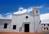 Fornells white church in Menorca at Balearic islands — Stock Photo