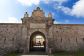 Menorca La Mola Castle door in Mahon at Balearics — Stock Photo