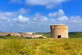 Menorca La Mola watchtower tower Cala Teulera in Mahon — Stock Photo