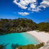 Cala Macarelleta in Menorca at Balearic Islands — Stock Photo
