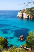 Cala Macarella Menorca turquoise Balearic Mediterranean — Stock Photo