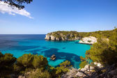 Cala Macarella Macarelleta Cituradella in Menorca Balearic — Stock Photo