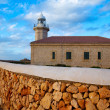 Stock Photo: MenorcPuntNati Faro lighthouse Balearic Islands