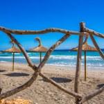 Menorca Platja Sant Tomas in Es Mitjorn Gran at Balearics — Stock Photo #35228547
