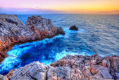 Menorca Punta Nati sunset in Balearic Islands — Stock Photo