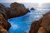 Menorca Punta Nati sunset in Balearic Islands — Stock Photo