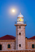 Ciutadella Menorca Punta Nati lighthouse moon shine — Stock Photo