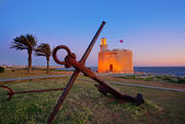 Ciutadella Castell de Sant Nicolas sunset Castillo San Nicolas — Stock Photo