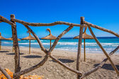 Menorca Platja Sant Tomas in Es Mitjorn Gran at Balearics — Stock Photo