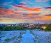 Menorca sunset in Son Bou beach of Alaior at Balearics — Stock Photo